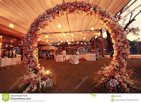 decoration for decoration wedding flower arch stock image image 62353527