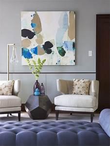 Modern living room art houzz for Modern paintings for living room