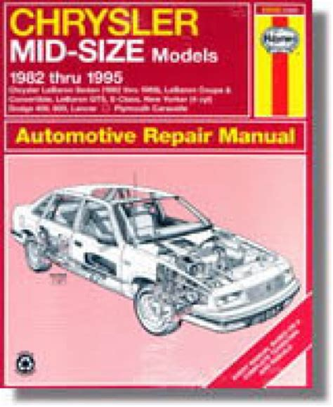 what is the best auto repair manual 1995 geo prizm electronic throttle control haynes chrysler mid size front wheel drive 1982 1995 auto repair manual