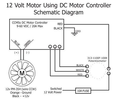 12 Volt Dc Motor Starter Wiring Diagram by 12v Rheostat Motor Wiring Diagram Wiring