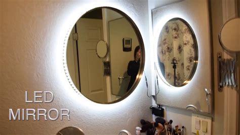 diy vanity mirror w led lights cheap and easy tesiabeau