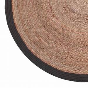 tapis tisse main coton et jute noir jaar drawer With tapis coton tissé
