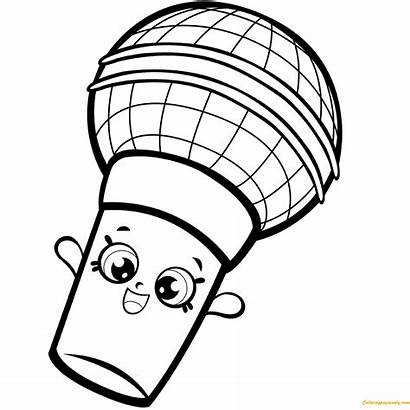 Coloring Shopkins Pages Microphone Colouring Season Shopkin