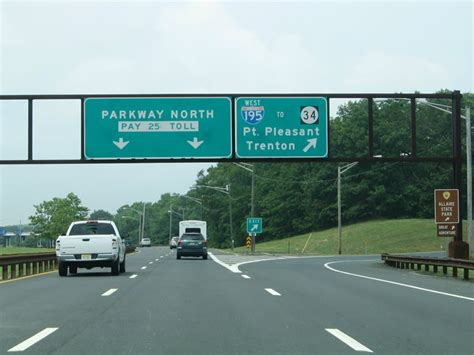 on garden state parkway south garden state parkway wall township to woodbridge