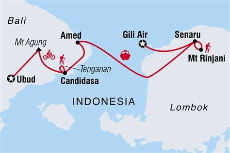 bali lombok hike bike raft  intrepid travel