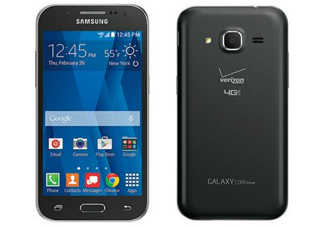 front facing carrier samsung galaxy prime sm g360v 4g lte android