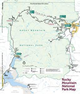 Rocky Mountain National Park Map