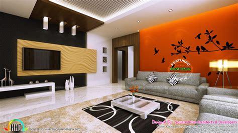 Living Room Ladies Sitting And Bedroom Interiors Kerala