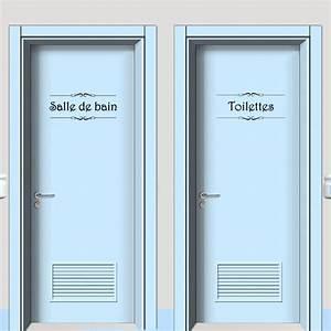 Stickers Porte Salle De Bain : vinyl wall sticker porte salle de bain et toilettes ~ Dailycaller-alerts.com Idées de Décoration