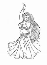 Belly Coloring Dancer Pisces Lacychenault sketch template