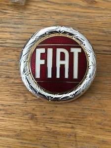 NEW FIAT X19 X1/9 Enamel Badge - Silver as later 1300 cars