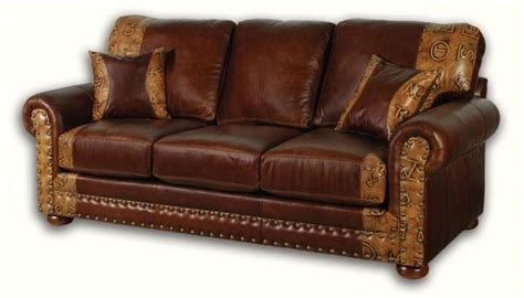 leather furniture rustic sofa western brown couch desire