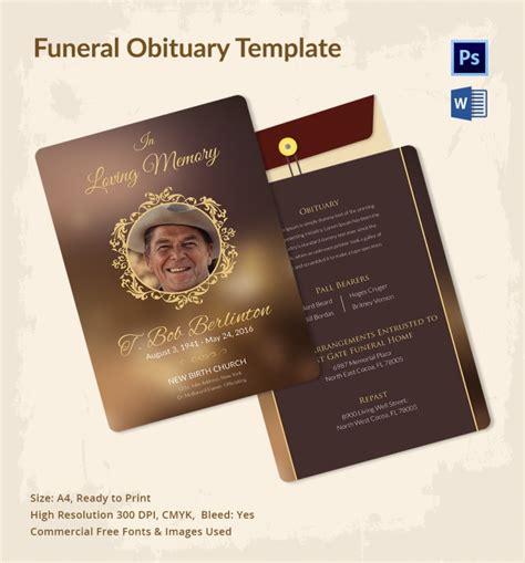 funeral obituary template 5 funeral obituary templates free word pdf psd documents program design trends
