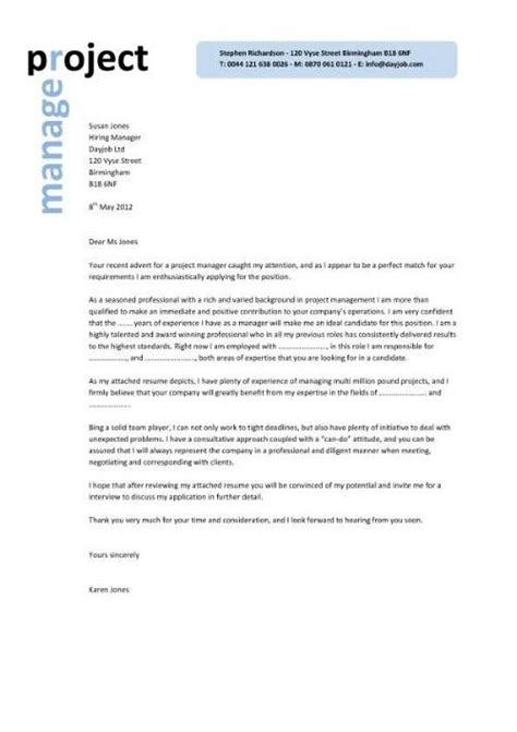 Exle Of A Written Cv Application by Best 25 Project Manager Cover Letter Ideas On