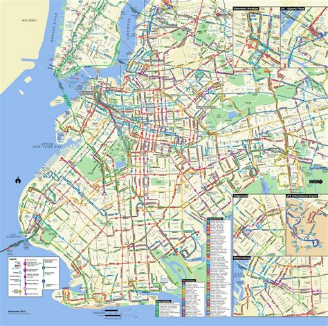 large detailed brooklyn bus map nyc  york usa
