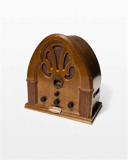 Radio Antique Wooden Lazaro Prop Props