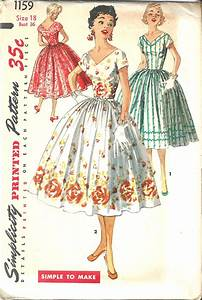 Vintage Sewing Pattern Dress Simplicity 1159 | fash diy ...