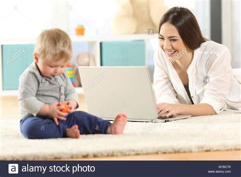 Multitasking Mother Stock Photos Multitasking Mother