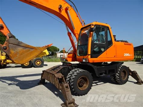 used daewoo doosan solar 200w v wheeled excavators year 2000 for sale mascus usa