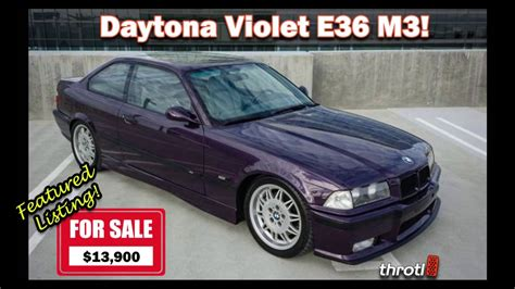 1995 Bmw M3 For Sale by 1995 Bmw E36 M3 For Sale In Daytona Violet Throtl