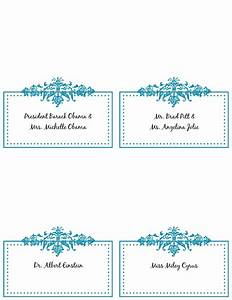 free place card templates 6 per page 5 best With template for place cards 6 per sheet