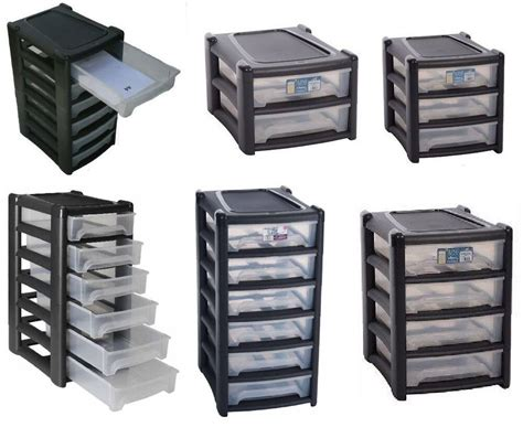 Plastic Drawers by Plastic Shallow Drawer Storage Unit Cabinet Office Bedroom