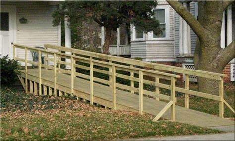wood deck ramp design design ideas