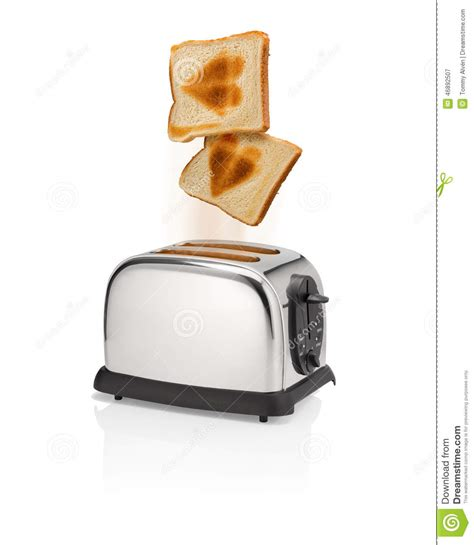 toaster pops roasted bread with symbol pops out from toaster