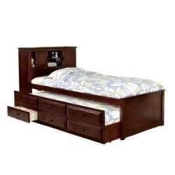venetian worldwide south land captain bed w trundle 3drawers cherry finish home