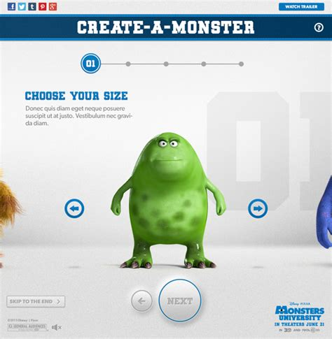 monsters university create  monster app  behance