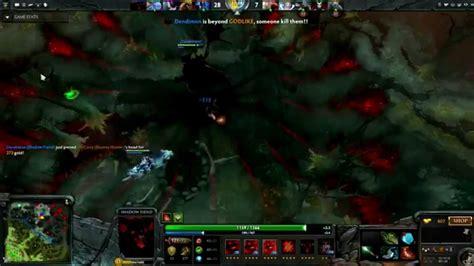 navi dendi shadow fiend awesome gameplay dota 2 youtube