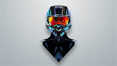 Halo Chief Abstract Master Xbox Maller Justin