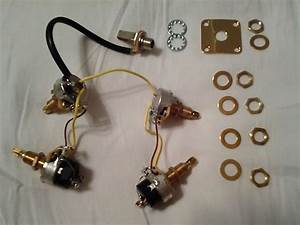 Gibson Usa Les Paul 500k Coil Split Pots Wiring Input Jack