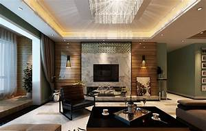 Modern living room ceiling lights and wall d house