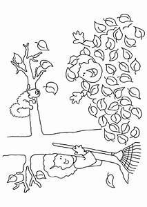 Feuilles D Automne à Imprimer : coloriage automne arbre et enfants ~ Nature-et-papiers.com Idées de Décoration