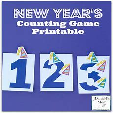 New Year's Counting Game Printable  Jdaniel4s Mom