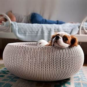 curver knit pet bed the container store With dog beds in store