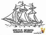 Ship Coloring Pages Sailing Ships Tall Sails Colouring Boats Boat Sail Sheet Boys Sky Template Yescoloring Nautical Yacht Rigged sketch template