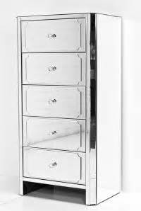 mirrored 5 drawer chest www roomservicestore regency all mirror 5 drawer 7532