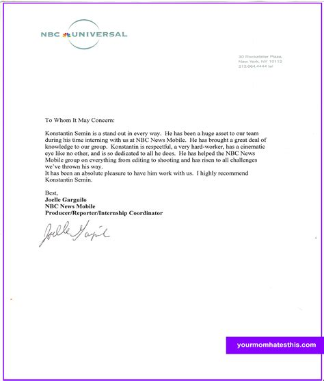 letter for recommendation download letter of recommendation samples