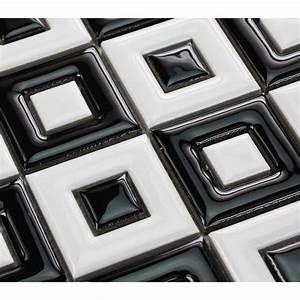 Black and white porcelain floor tile bathroom grid ceramic ...