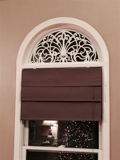 Arch Window Coverings by Diy Faux Wrought Iron Arch For Windows Using Rubber Door