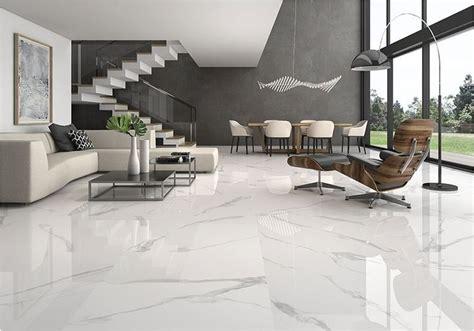 stunning  clean white marble floor living room