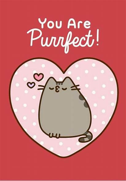 Pusheen Wallpapers Valentine Purrfect Cat Kawaii Cartoon