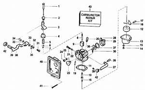 Johnson Carburetor Parts For 1991 3 3hp Hj3reic Outboard Motor