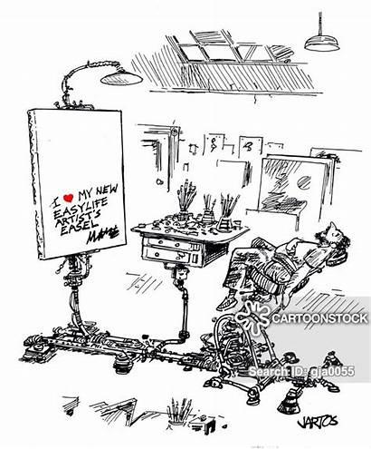 Block Easels Cartoon Creative Cartoonstock Artist