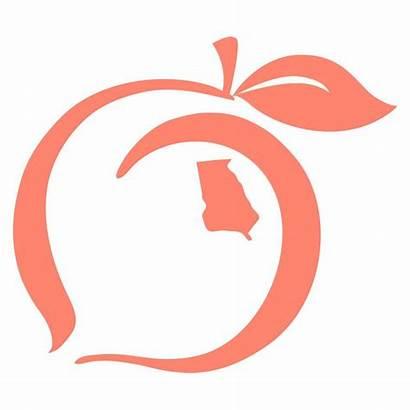 Peach State Pride Decal Sticker Ga Clipart