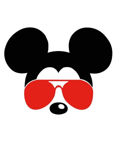 The dxf format files are compatible with design software such as vinyl. Mickey Mouse SVG sunglasses Disney Mickey Mouse sunglasses ...