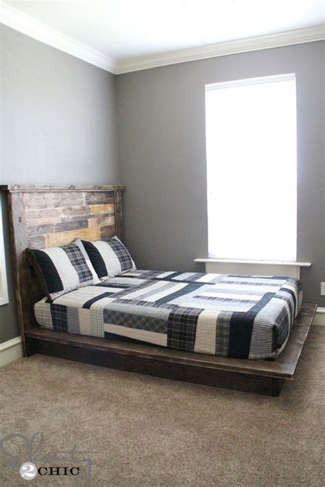 size bed and box easy diy platform bed shanty 2 chic