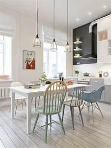 La salle a manger scandinave en 67 photos archzinefr for Salle À manger contemporaine avec cuisine scandinave design